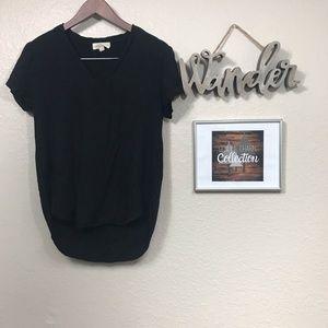 Cloth and Stone Dark Black Hi Low T-shirt